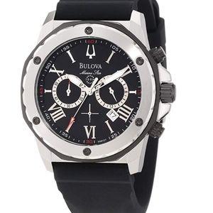 Men's Marine Star Black Dial Strap Watch